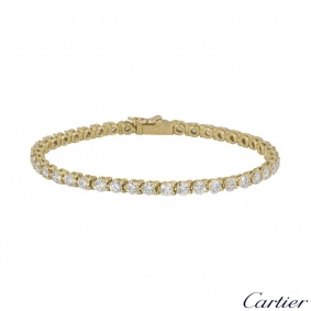 Cartier Yellow Gold Diamond Line Bracelet